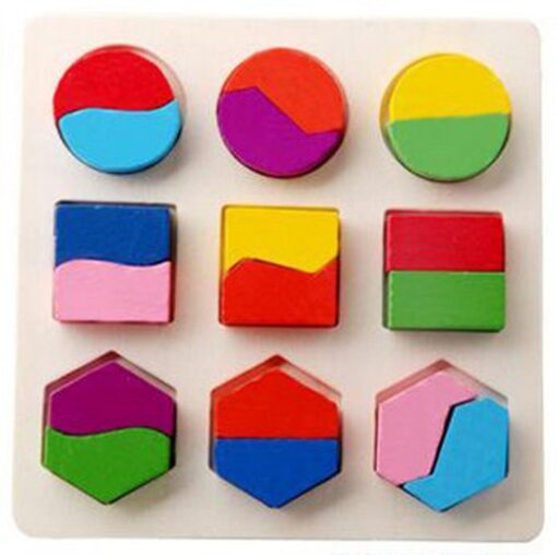 DIY Imagination Kids Baby Wooden Geometry Building Puzzle Early Learning Educational Toy Educational Toys Do It 5
