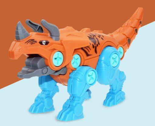 DIY Splicing Dinosaur Toys Set With Screwdriver Tools Take Apart Building Dinosaur Playset To Create A 6