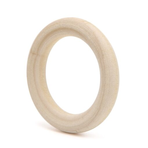 DIY Wooden Beads Connectors Circles Rings Beads Lead Free Natural Wood 3