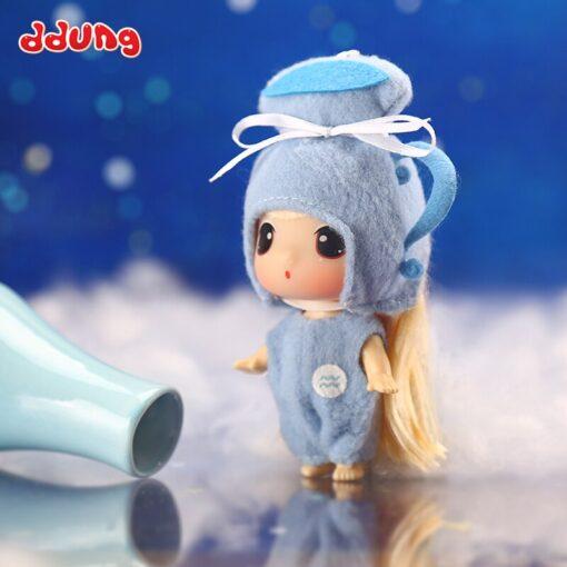 Ddung 9cm Doll Baby Doll Toy Reborn Dolls Babies Twelve Constellations Dressed Doll Girl Princess Doll 1