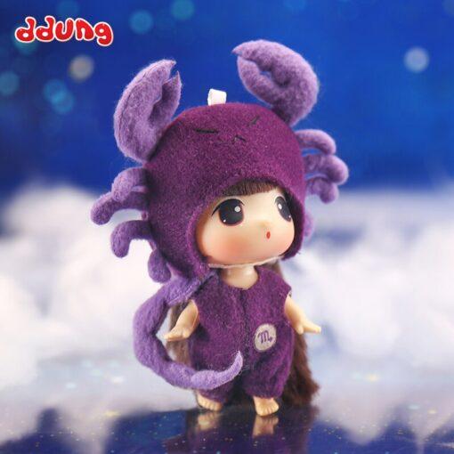 Ddung 9cm Doll Baby Doll Toy Reborn Dolls Babies Twelve Constellations Dressed Doll Girl Princess Doll 2