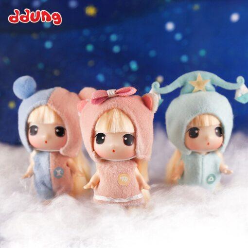 Ddung 9cm Doll Baby Doll Toy Reborn Dolls Babies Twelve Constellations Dressed Doll Girl Princess Doll 3