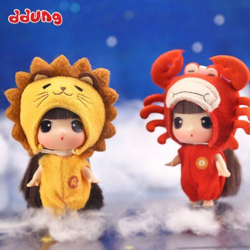 Ddung 9cm Doll Baby Doll Toy Reborn Dolls Babies Twelve Constellations Dressed Doll Girl Princess Doll 4