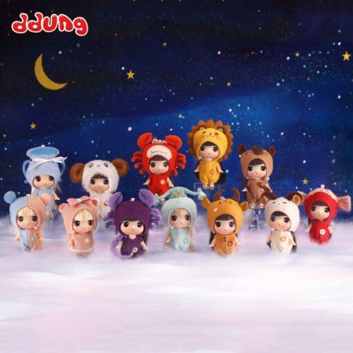 Ddung 9cm Doll Baby Doll Toy Reborn Dolls Babies Twelve Constellations Dressed Doll Girl Princess Doll