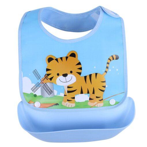 Detachable Baby EVA Waterproof Feeding Bibs Newborn Cute Cartoon Feeding Cloth Towels Children Apron Kids Feeding 2