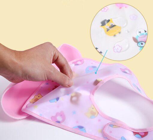 Detachable Baby EVA Waterproof Feeding Bibs Newborn Cute Cartoon Feeding Cloth Towels Children Apron Kids Feeding 4