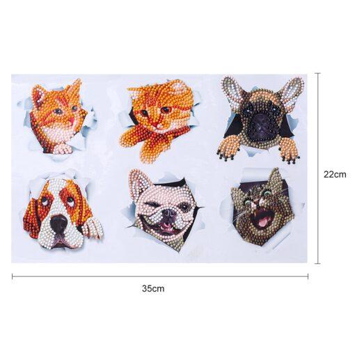 Diamond painting cute cartoon animal design puzzle cartoon gift 5D children s diamond painting DIY hand 11