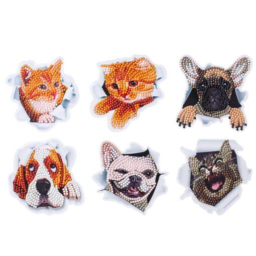 Diamond painting cute cartoon animal design puzzle cartoon gift 5D children s diamond painting DIY hand 6