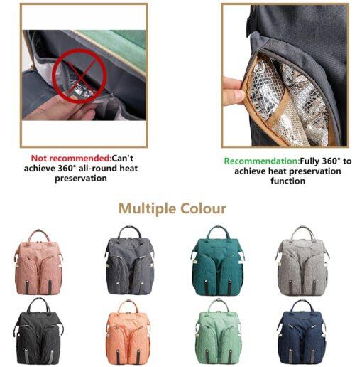 Diaper Bag Backpack Multifunctional Waterproof Large Capacity Maternity Hospital Baby Care Nappy Fold Crib Bags Backpacks 1