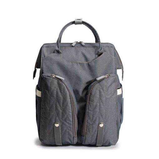 Diaper Bag Backpack Multifunctional Waterproof Large Capacity Maternity Hospital Baby Care Nappy Fold Crib Bags Backpacks 5