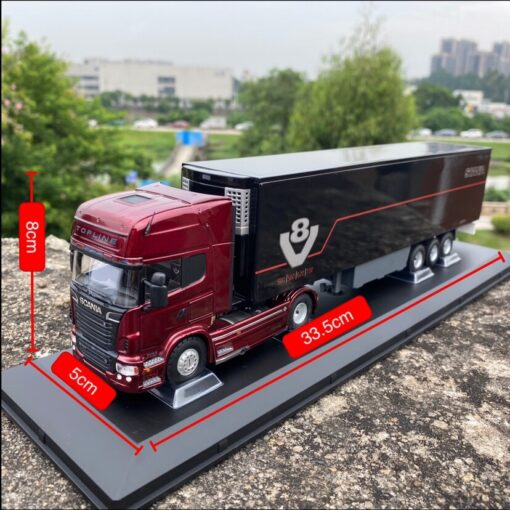 Diecast 1 50 Scale SCANIA Heavy Tractor Container Truck Model Die cast Metal Vehicle Toys Collection 1