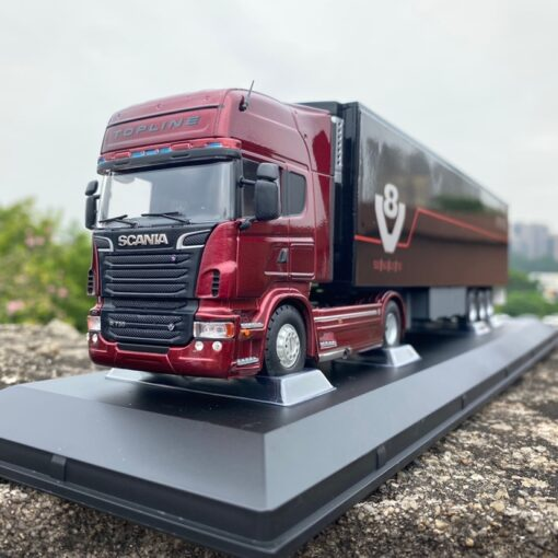 Diecast 1 50 Scale SCANIA Heavy Tractor Container Truck Model Die cast Metal Vehicle Toys Collection