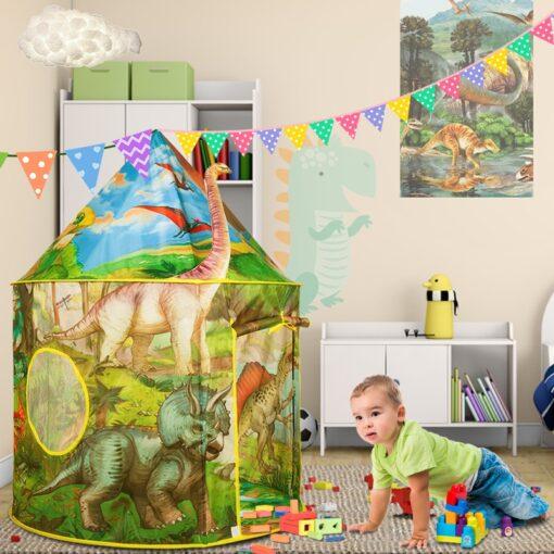 Dinosaur Foldable Children s house tent For Kids Tent Baby toys wigwam play house for children 2