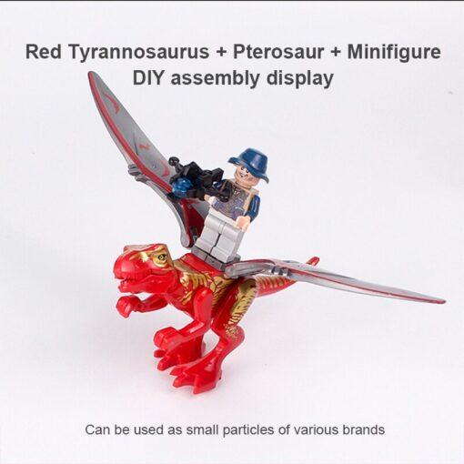 Dinosaur Park DIY Blocks Dinosaurs Tyrannosaurus Tiny Models Building Block Kids Toys Creator Animals Action Figure 4
