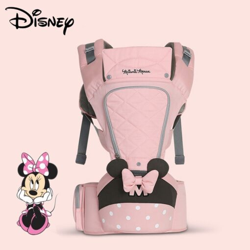 Disney 0 36 Months Bow Breathable Front Facing Baby Carrier Hipseat 20kg Infant Comfortable Sling Backpack 5