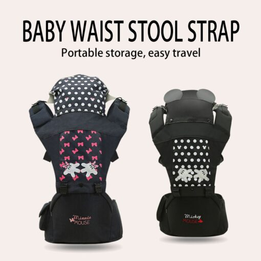 Disney Baby Carrier Baby Cushion Front Sitting Kangaroo Baby Wrap Sling for Baby Travel Multifunction Infant