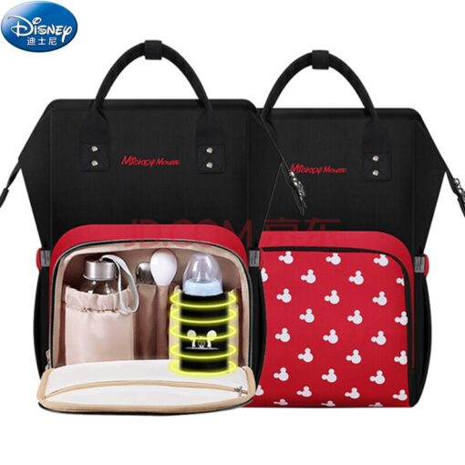 Disney Bottle Feeding Insulation Bag Oxford Cloth Diaper Storage Bag Backpack USB Waterproof Stroller Large Capacity 1