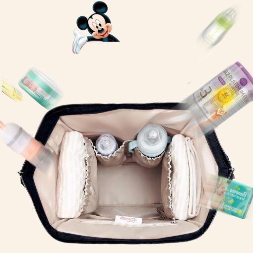 Disney Bottle Feeding Insulation Bag Oxford Cloth Diaper Storage Bag Backpack USB Waterproof Stroller Large Capacity 2