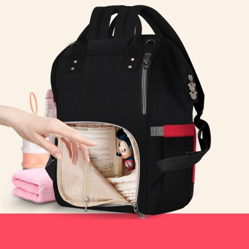Disney Bottle Feeding Insulation Bag Oxford Cloth Diaper Storage Bag Backpack USB Waterproof Stroller Large Capacity 5