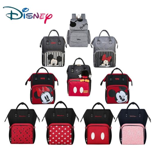 Disney Bottle Feeding Insulation Bag Oxford Cloth Diaper Storage Bag Backpack USB Waterproof Stroller Large Capacity