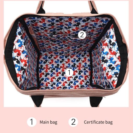 Disney Diaper Backpack Baby Bag for Mom Wet Bag Fashion Mummy Maternity Diaper Organizer Mickey Travel 2