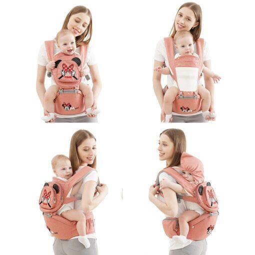 Disney Ergonomic Baby Carrier 0 48M Baby Hipseat Carrier Front Facing Ergonomic Kangaroo Baby Wrap Sling 1