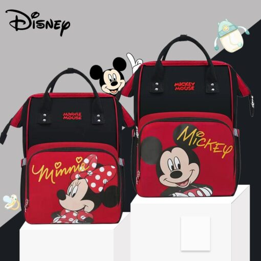 Disney Lovely Pre deisgn Baby USB Diaper Bags For Mom Baby Bag Backpack Maternity Waterproof Mummy