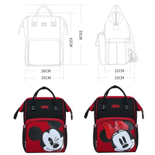 Disney Minnie Mickey Diaper Bag Baternity Baby Multifunctional Stroller Nappy Bag travel Backpack For Mom USB 2