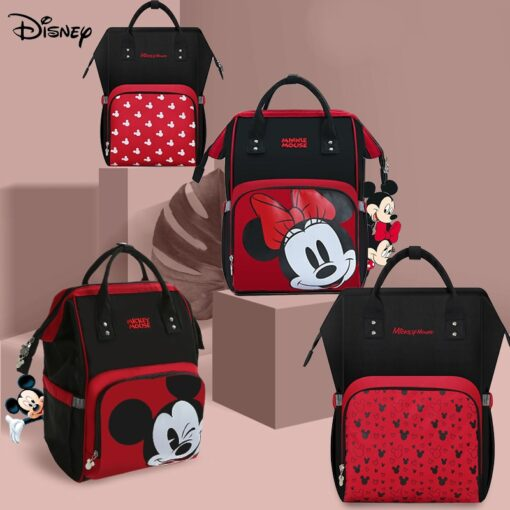 Disney Minnie Mickey Diaper Bag Baternity Baby Multifunctional Stroller Nappy Bag travel Backpack For Mom USB