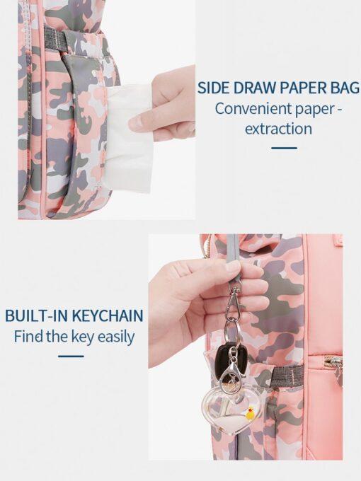Disney Pink Series Baby Bag USB Diaper Bag Waterproof Mommy Bag Backpack For Travel Maternity Stroller 3