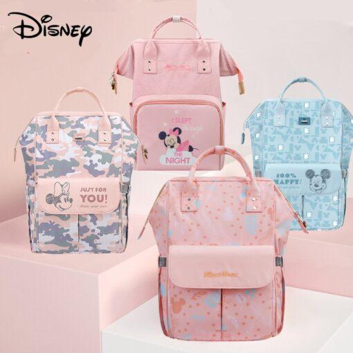 Disney Pink Series Baby Bag USB Diaper Bag Waterproof Mommy Bag Backpack For Travel Maternity Stroller