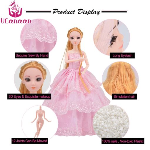 Doll With 83 Accessories DIY Dressup Toys For Girls Fashionista Ultimate Fashion Princess Dolls Set 3
