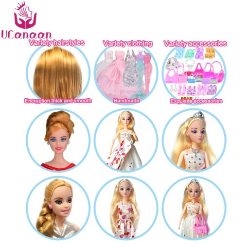 Doll With 83 Accessories DIY Dressup Toys For Girls Fashionista Ultimate Fashion Princess Dolls Set 4