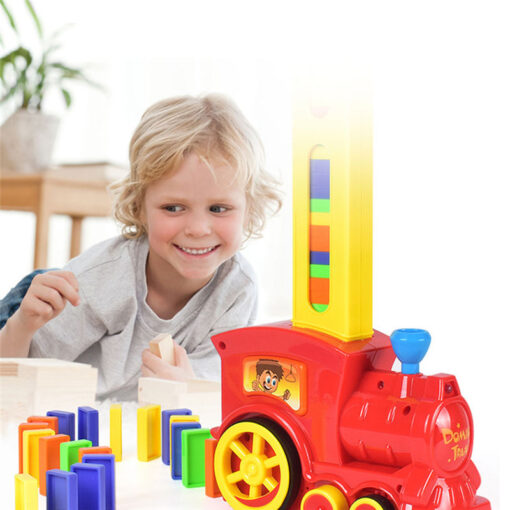 Dominoes Game Electric Train Kids Toy Automatic Car Vehicle Model Toy Children Learning Educational Toys Domino 1