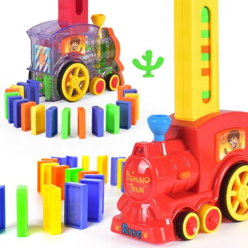 Dominoes Game Electric Train Kids Toy Automatic Car Vehicle Model Toy Children Learning Educational Toys Domino 3