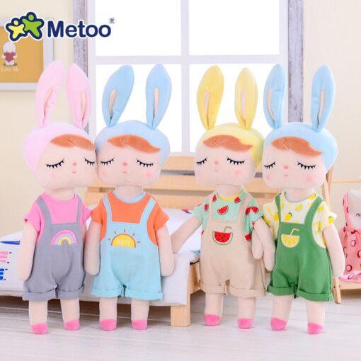 Dress Up Angela Rabbit Metoo Doll Stuffed Toys Plush Animals Kids Toys for Girls Children Boys 2