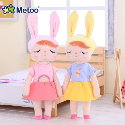 Dress Up Angela Rabbit Metoo Doll Stuffed Toys Plush Animals Kids Toys for Girls Children Boys 3