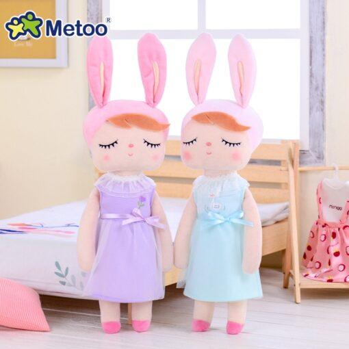 Dress Up Angela Rabbit Metoo Doll Stuffed Toys Plush Animals Kids Toys for Girls Children Boys 4