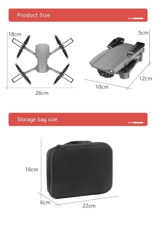 Drone E99 Pro WIFI FPV Mini RC Drone 4K HD Aerial Camera Folding Quadcopter 1