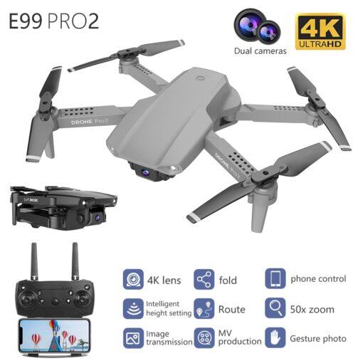 Drone E99 Pro WIFI FPV Mini RC Drone 4K HD Aerial Camera Folding Quadcopter