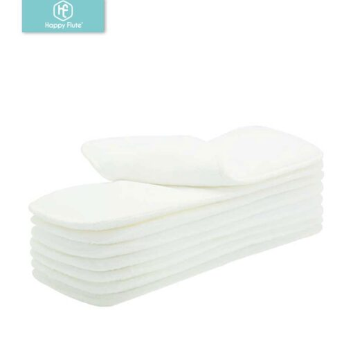 Drop shipping happyflute 10pcs Washable reuseable Baby Cloth Diapers Nappy inserts microfiber 3 layers