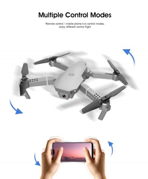 E68 Pro WIFI FPV Quadcopter 4K 1080P HD With Wide Angle Camera Foldable Altitude Hold Durable 4
