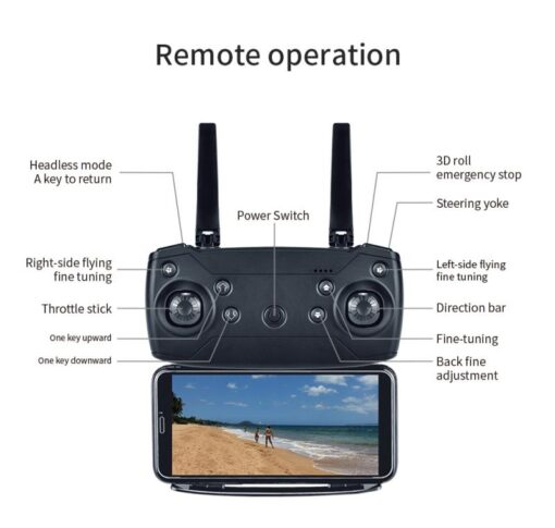 E68 Pro WIFI FPV Quadcopter 4K 1080P HD With Wide Angle Camera Foldable Altitude Hold Durable 5