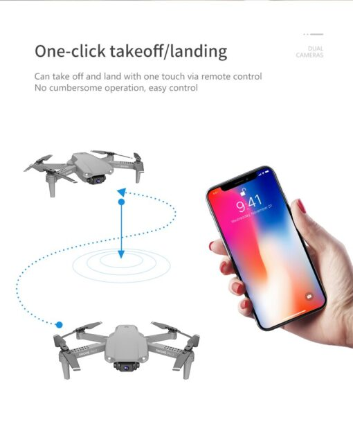 E99 Pro WIFI FPV Quadcopter With 4K HD Wide Angle Camera Foldable Altitude Hold Durable RC 4