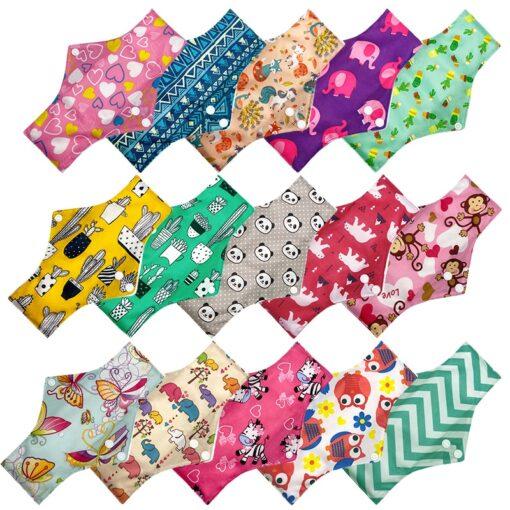 Eco friendly sanitary napkin bamboo washable Charcoal Period Reusable fiber Mama Menstrual sanitary pad Skin and