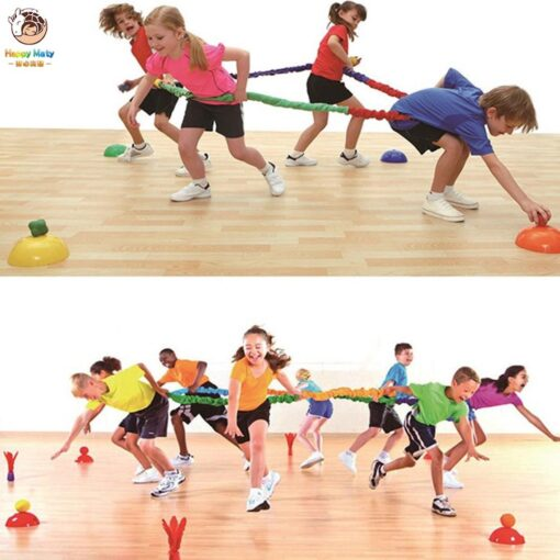 Elastic Fleece Cooperative Stretchy Band Integrations Dynamic Movement Exercise Team Cooperation Work Develop Outdoor Sport Toy