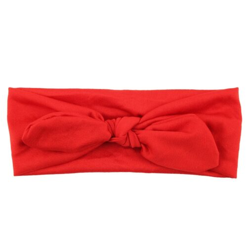 Elastic Stretch Rabbit Bow Style Hair Band Cute Girls Headband Turban Knot Head Wraps Children Hairband 4