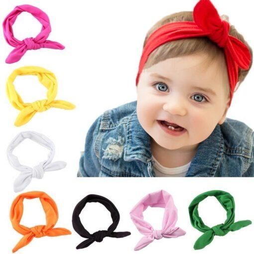 Elastic Stretch Rabbit Bow Style Hair Band Cute Girls Headband Turban Knot Head Wraps Children Hairband