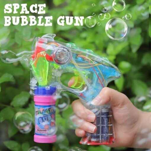 Electric Bubble Machine Wedding Birthday Party Blowing bubble music flash toys for children kids 1