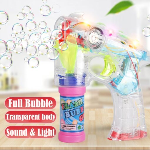 Electric Bubble Machine Wedding Birthday Party Blowing bubble music flash toys for children kids 2